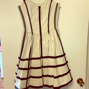 Betsey Johnson Off White and Black Dress